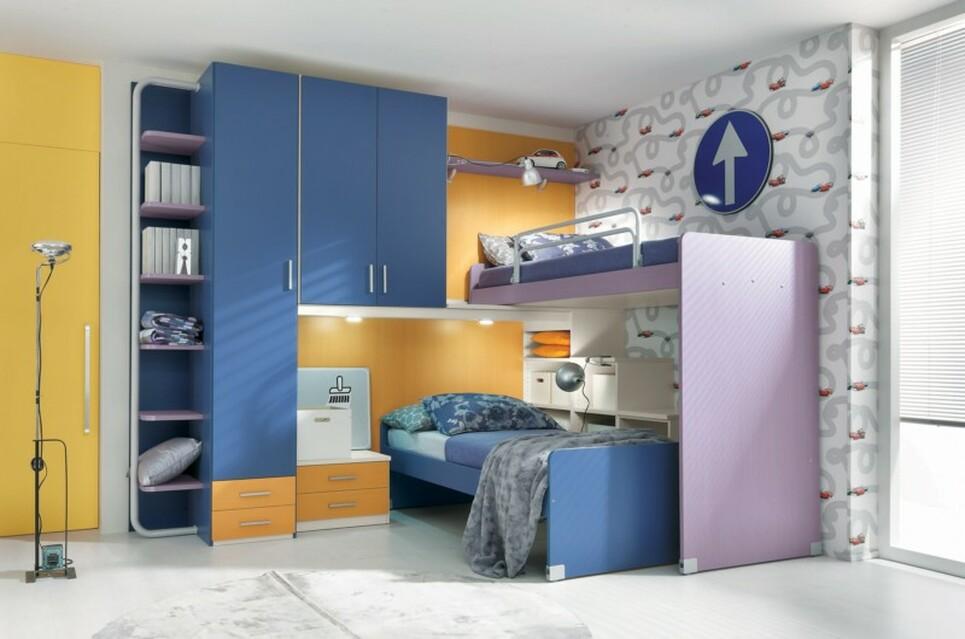 Sartoria dei mobili home page cameretta doppio letto - Soluzioni camerette piccole ...